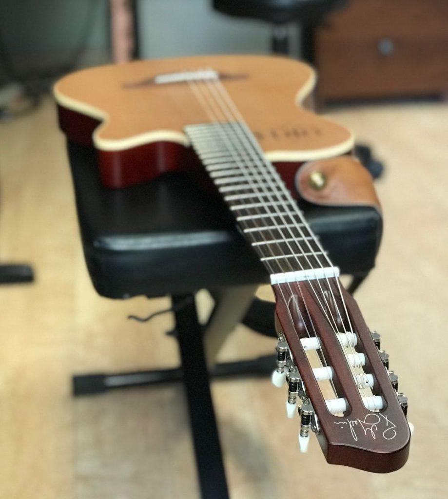godin multiac nylon encore 7 string guitar review river heights music. Black Bedroom Furniture Sets. Home Design Ideas